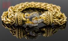 18K Yellow Gold David Yurman Diamond Bracelet