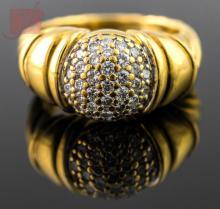 18K Yellow Gold David Yurman Diamond Ring
