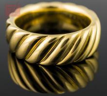 18K Yellow Gold David Yurman Gentlemen's Ring