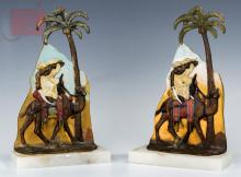 Pair of Austrian Cold Painted Bronze Bookends