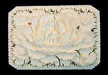 Vintage Chinese Carved Ivory Brooch