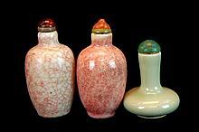 3 Pcs. Chinese Porcelain Snuff Bottle Lot