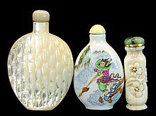 3 Pcs. Chinese Glass Snuff Bottle Lot