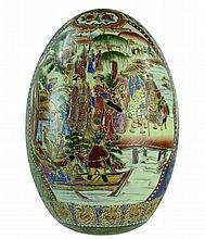 Large Japanese Signed Satsuma Egg