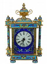 Chinese Enamel Cloisonne Carriage Clock