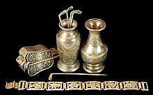 Japanese Silver Bracelet, Toothpick, Box Lot