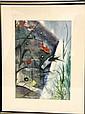 Signed Robert L. Cantillo Watercolor,