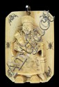 19th Century Carved Chinese Ivory Pendant Relief