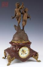 Fander Orleans Figural Zodiac Mantle Clock