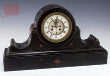 Slate Mantle Clock w/ Porcelain Dial