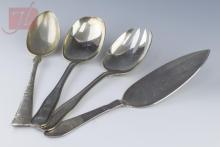 4 Pc. Sterling Serving Utensil Lot w/ Georg Jensen