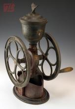 Elgin National Cast Iron Coffee Mill w/ Eagle Finial