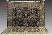 Hand-Knotted Pakistan Floral Rug