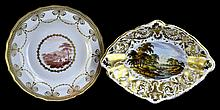 PAIR Antique Crown Derby Porcelain Bowls