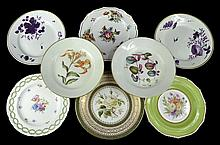 8 Antique Crown Derby Botanical Plates