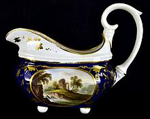 Antique Crown Derby Porcelain Sauce Boat