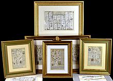 (8) Pcs. Antique Bookplate Lithograph, Maps