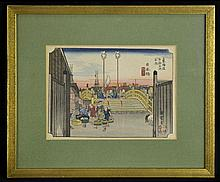 Signed Japanese Hand Colored Woodblock Print #1