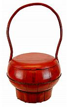 Wooden Chinese Lunch Pail 19th Cen.