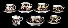 Crown Derby Porcelain Cups & Saucers #2