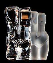 M Legendre Daum France Crystal Male / Female Torso