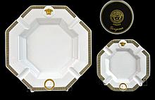PAIR Rosenthal Versace Medusa Gorgona Ashtray