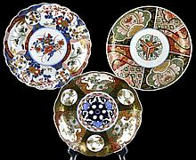 (3) Pcs. Imari Asian Export Pottery Plate Lot