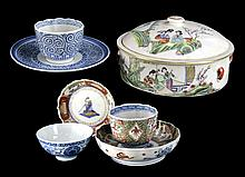 (7) Pieces Asian Export Pottery Lot