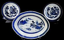 (3) Imari Asian Export Pottery: 2 Plates, 1 Bowl