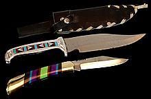 PAIR Custom Inlay Knife Lot