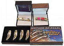 (6) Pcs. Miniature Knife Jewelry Lot