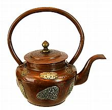 Antique Chinese Mixed Metals Teapot