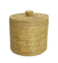 Asian Tight Weave Covered Basket