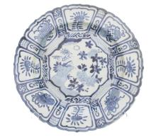 Asian Blue & White Cricket & Floral Charger #2