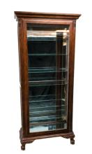 Cherry Wood Curio Cabinet