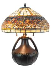 Allen + Roth Tiffany Style Leaded Glass Lamp #1