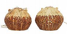 Bernard Rooke (1938-) Art Pottery Lamp Pair