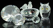6 Pc. Swarovski Crystal Figurine Lot #4