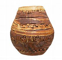 Bernard Rooke (1938 - ) Pottery Art Large Vase