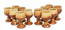12 Pc. Bernard Rooke (1938-) Art Pottery Goblet Lot