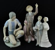 3 Pc. Lladro Porcelain Figurine Lot w/ 5200, 5116