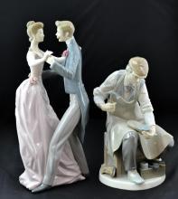2 Pc. Lladro Porcelain Figurine Lot w/ 1372 & 4853