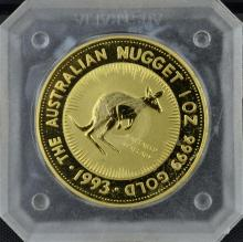 1993 Australia 1 oz Gold Kangaroo Nugget Coin #2