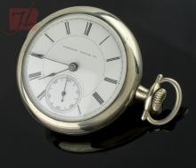 Nickel Hampden Open Face Pocket Watch