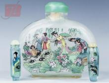 3 Pc. Asian Glass Perfume & Snuff Bottle Lot