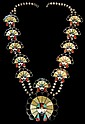 Zuni Sun Face Squash Blossom Necklace