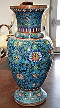 Large Cloisonne Chinese Floor Vase