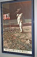 Autographed Buzz Aldrin Poster