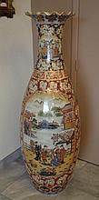 Large Satsuma Style Floor Vase