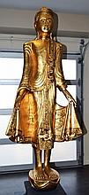 Gold Gilt Buddhist Statue